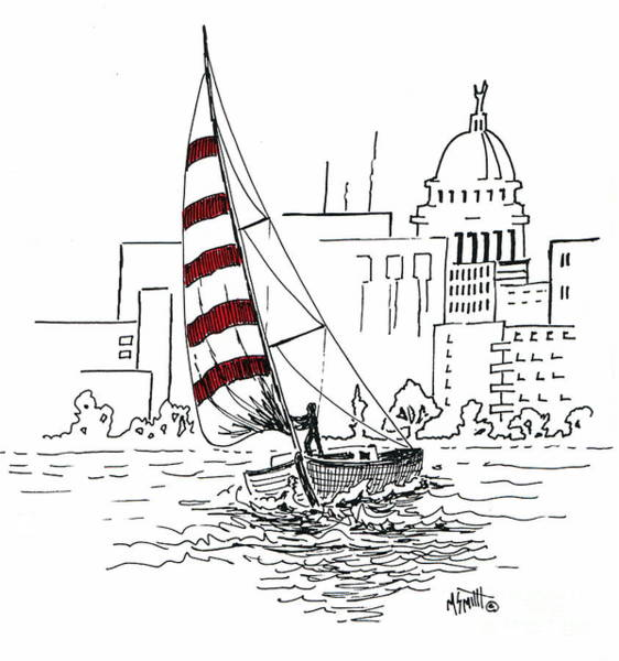 Drawing - Sail Away by Marilyn Smith