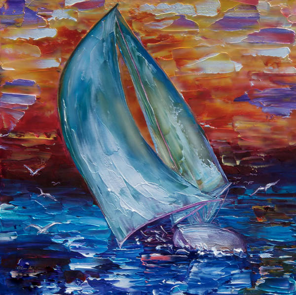 Painting - Sail Away With Me by OLena Art - Lena Owens