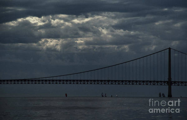 Photograph - Sail Beneath The Mighty Mac by Linda Shafer