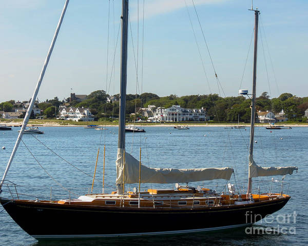 Photograph - Sail Boat At Hyannis by Donna Cavanaugh