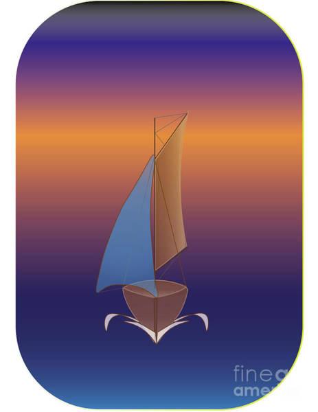 Digital Art - Sail Boat by Brian Roscorla