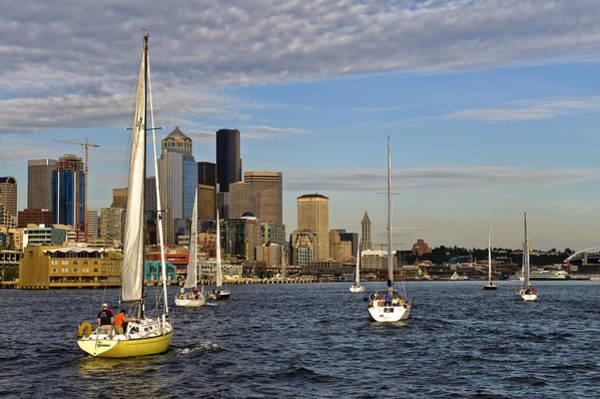 Sail Seattle Art Print by Tom Dowd