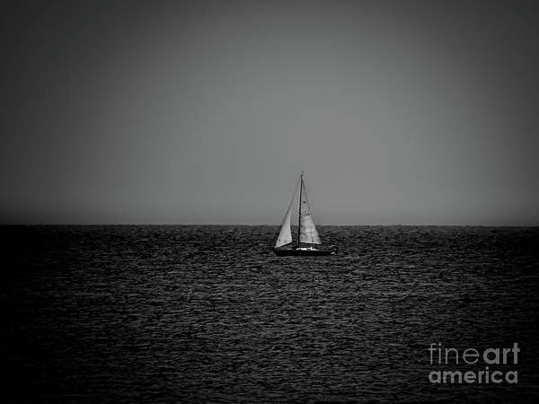 Photograph - Sailboat 136 Bw by Camille Pascoe