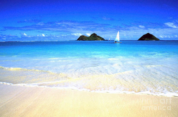 Photograph - Sailboat And Islands by Thomas R Fletcher
