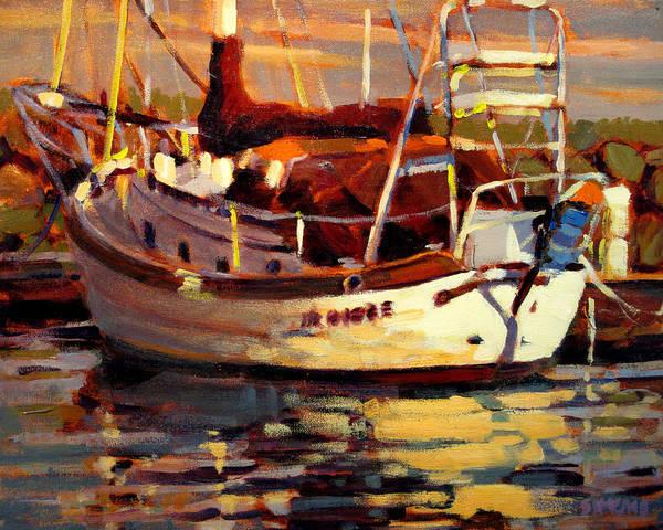 Boat Painting - Sailboat by Brian Simons
