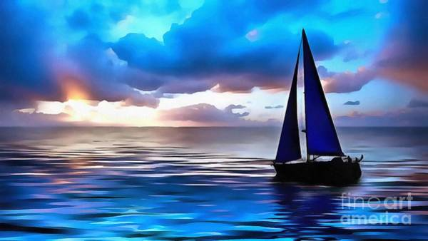 Painting - Sailboat Glamour Style by Catherine Lott
