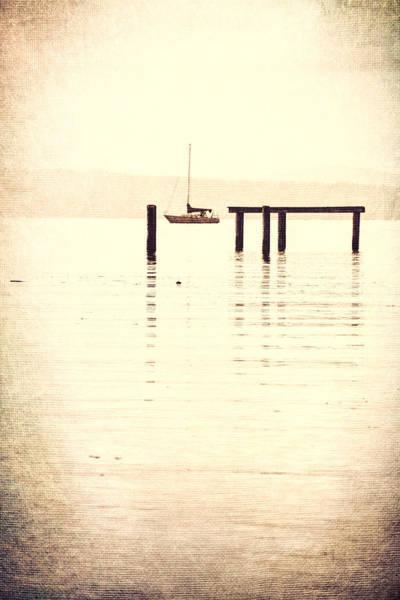 Sailboat Mixed Media - Sailboat Grunge by Dan Sproul