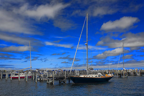 Photograph - Sailboat In Nantucket - Safe Harbor Series 53 by Carlos Diaz