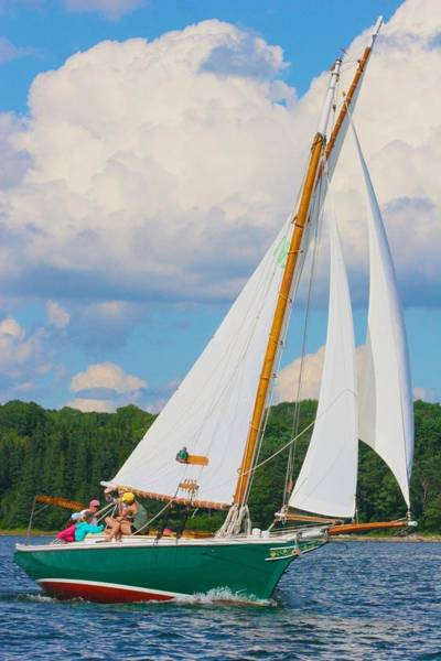 Photograph - Sailboat Like In The Time Of Wonder Book by Polly Castor