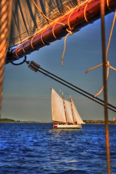 Photograph - Sailboat On Boston Harbor by Joann Vitali