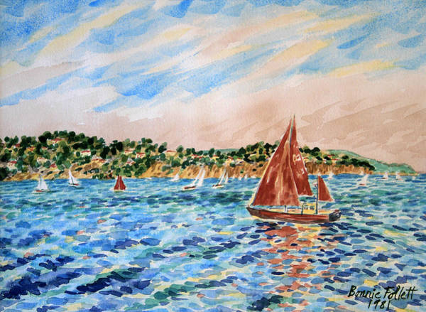 Painting - Sailboat On The Bay by Bonnie Follett