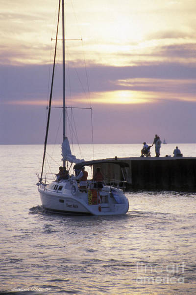 Bayfield Wall Art - Photograph - Sailboat Setting Out From Bayfield by Gordon Wood