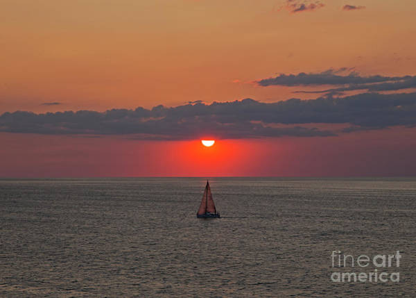 Photograph - Sailboat Sunset by James Guilford