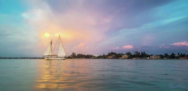 Photograph - Sailboat Sunset On Sarasota Bay by Susan Molnar