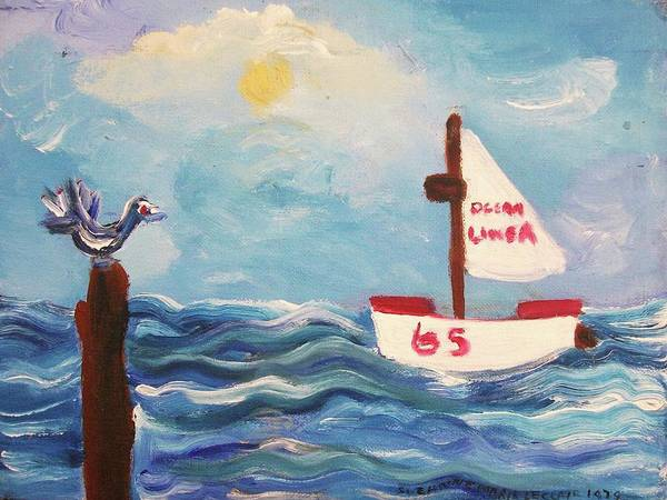 Leclair Painting - Sailboat by Suzanne  Marie Leclair