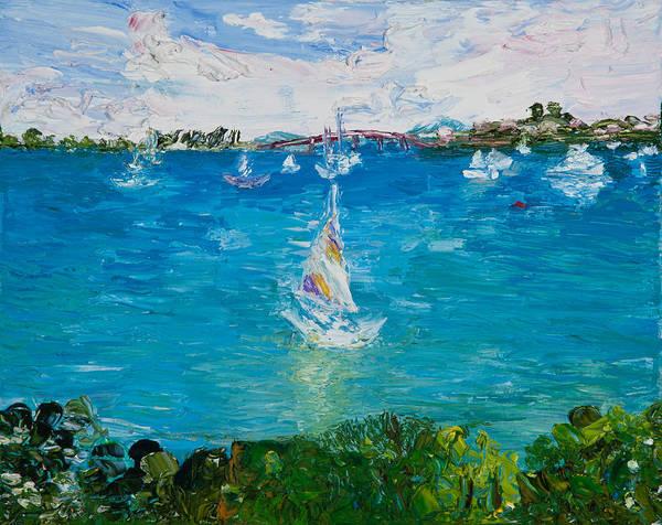 Print On Demand Wall Art - Painting - Sailboat by Tara Leigh Rose