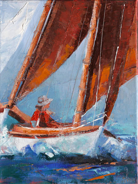 Painting - Sailboat Therapy by Trina Teele