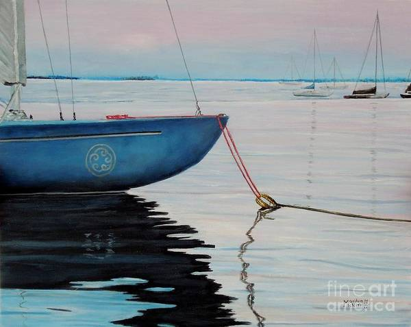 Painting - Sailboat Tied by Marilyn  McNish