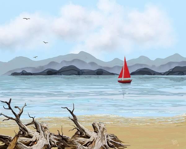 Digital Art - Sailboat by Tony Rodriguez