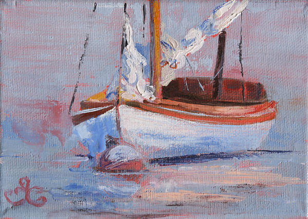 Painting - Sailboat Wisdom by Trina Teele
