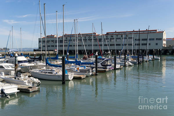 Photograph - Sailboats At Fort Mason Gashouse Cove East Harbor San Francisco California Dsc3134 by Wingsdomain Art and Photography