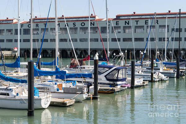 Photograph - Sailboats At Fort Mason Gashouse Cove East Harbor San Francisco California Dsc3135 by Wingsdomain Art and Photography