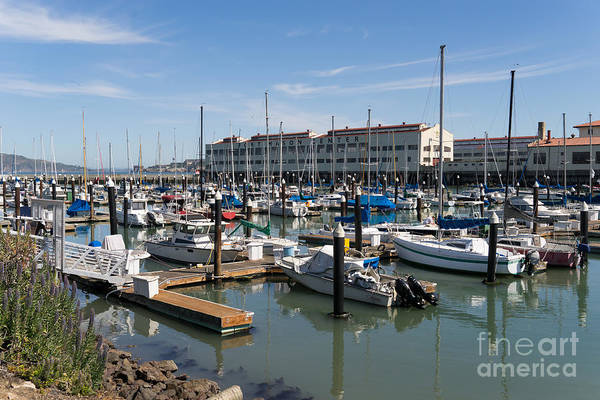Photograph - Sailboats At Fort Mason Gashouse Cove East Harbor San Francisco California Dsc3137 by Wingsdomain Art and Photography