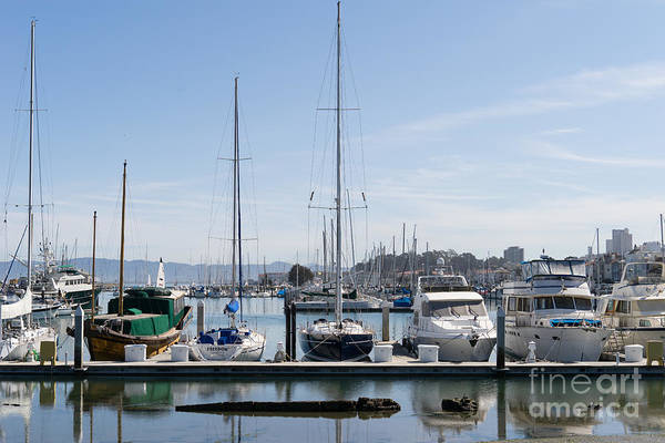 Photograph - Sailboats At St Francis Yacht Club Harbor San Francisco California Dsc3094 by Wingsdomain Art and Photography