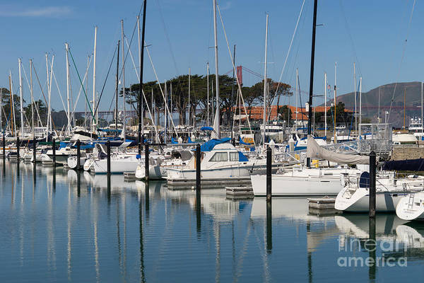 Photograph - Sailboats At St Francis Yacht Club Harbor San Francisco California Dsc3107 by Wingsdomain Art and Photography