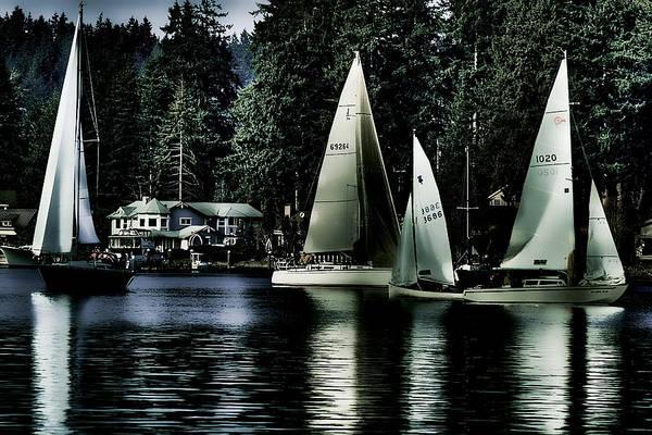 Photograph - Sailboats by David Patterson