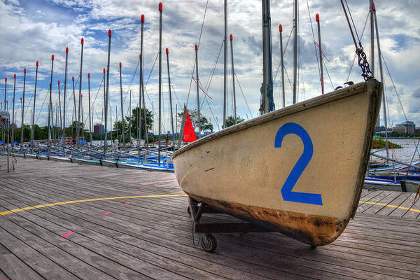Photograph - Sailboats Docked On The Charles River by Joann Vitali