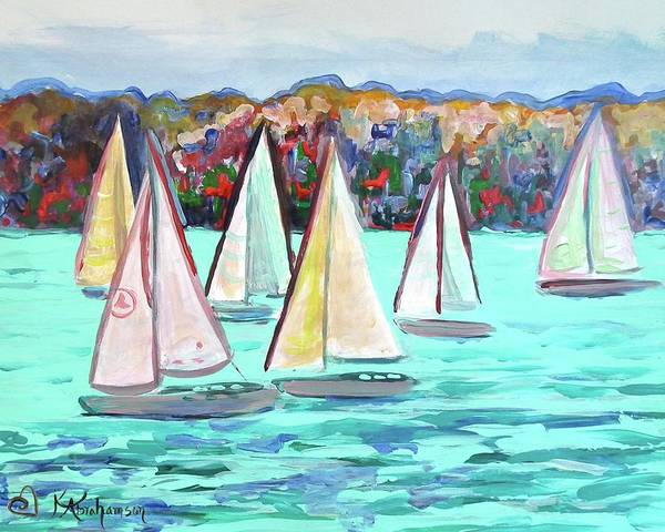 Sailboats In Spain I Art Print