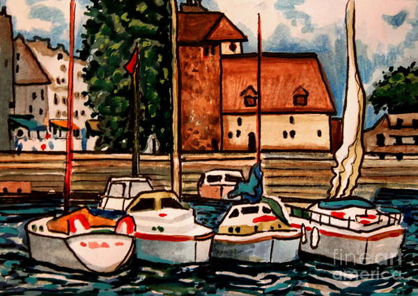 Painting - Sailboats In The Harbor by Elizabeth Robinette Tyndall