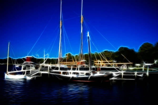 Photograph - Sailboats Mystic Seaport by Lawrence Christopher
