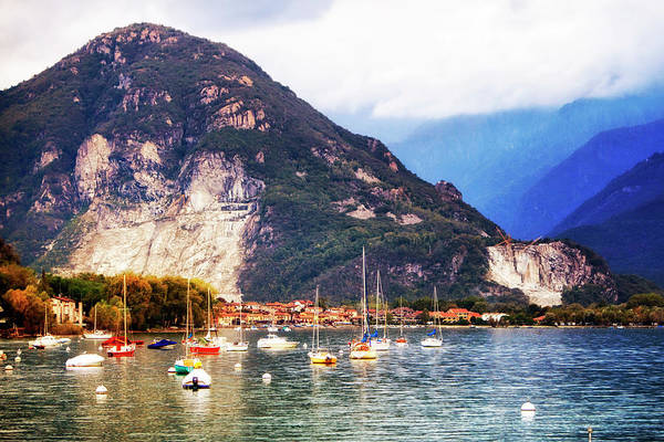 Wall Art - Photograph - Sailboats On Lake Maggiore In Italy by Susan Schmitz