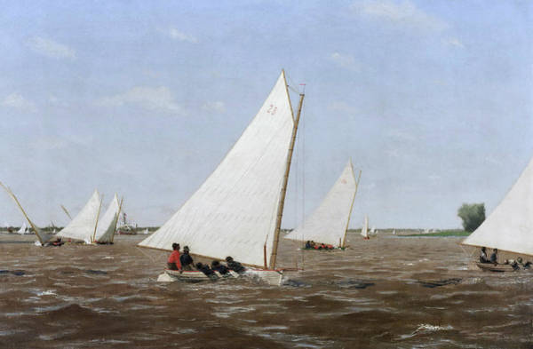 Painting - Sailboats Racing On The Delaware by Thomas Eakins