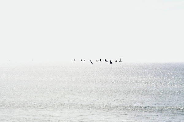 Wall Art - Photograph - Sailboats Regatta Seascape by Anna Lemos