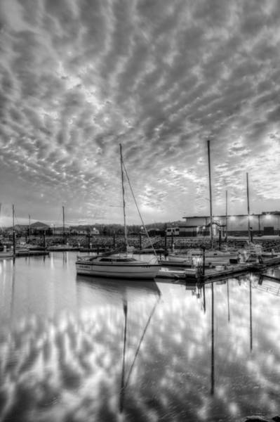 Powerboat Photograph - Sailer's Delight Black And White by JC Findley