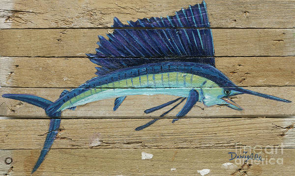 Recycle Painting - Sailfish by Danielle Perry