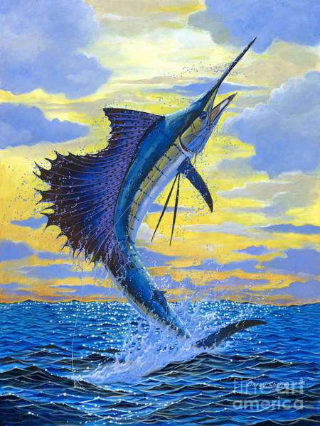 Angler Wall Art - Painting - Sailfish Point Off00158 by Carey Chen