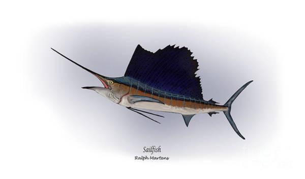 Angling Art Painting - Sailfish by Ralph Martens