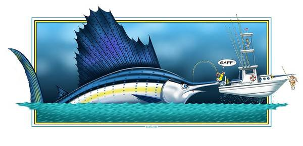 Digital Art - Sailfish by Scott Ross