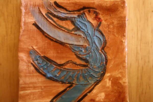 Ceramic Art - Sailing  - Tile by Gloria Ssali