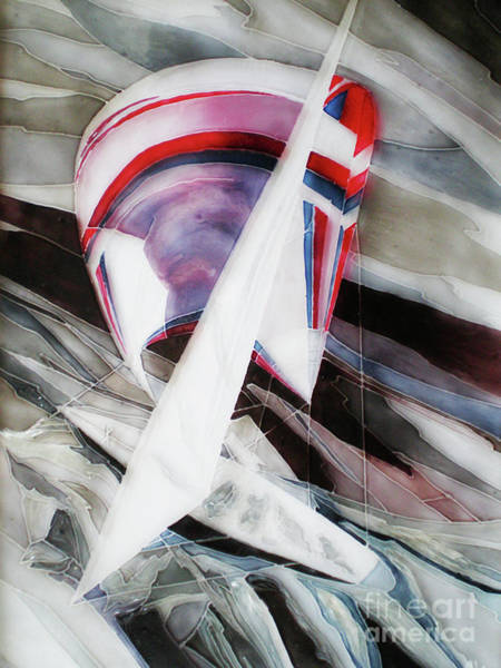 Vitrage Wall Art - Painting - Sailing Against The Wind by Kseniia Chorna
