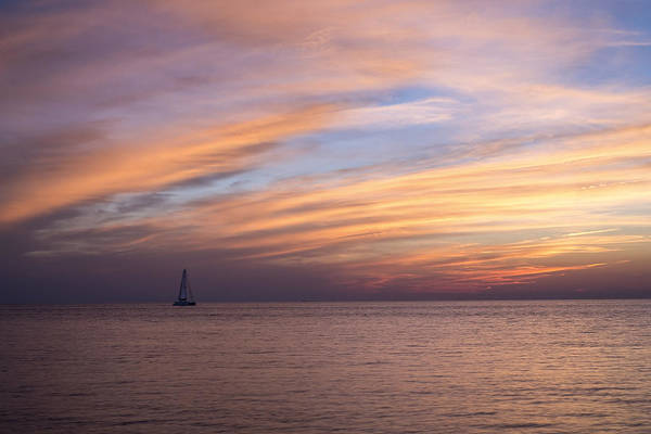 Photograph - Sailing At Sunset by Shawn Colborn