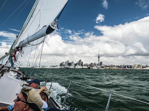 Photograph - Sailing Auckland Harbor by Walt Sterneman