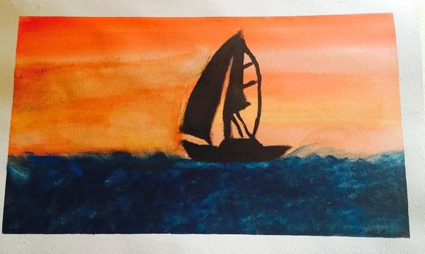 Wall Art - Painting - Sailing Away  by Angelina Elliott