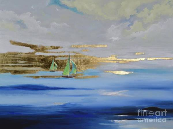 Painting - Sailing Away by Mary Scott
