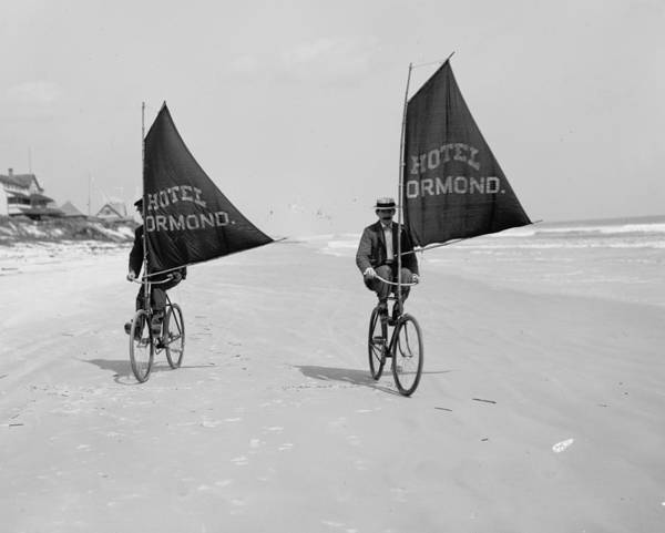 Ormond Photograph - Sailing Bicycles 1903 by Padre Art