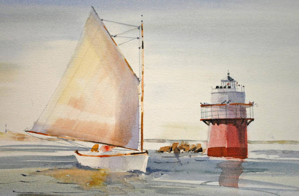 Painting - Sailing By Buglight  by P Anthony Visco